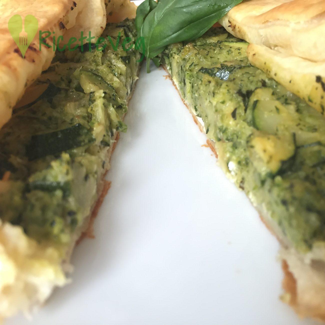 Torta salata zucchine e robiola – Ricetta Vegetariana