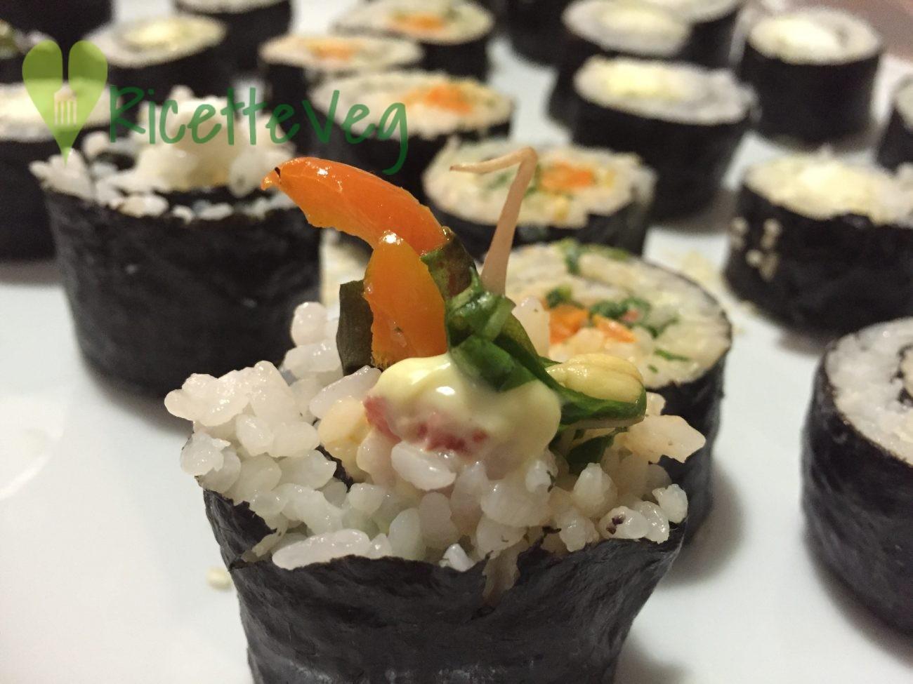 Sushi veg – Ricetta vegana – Ricetta vegetariana