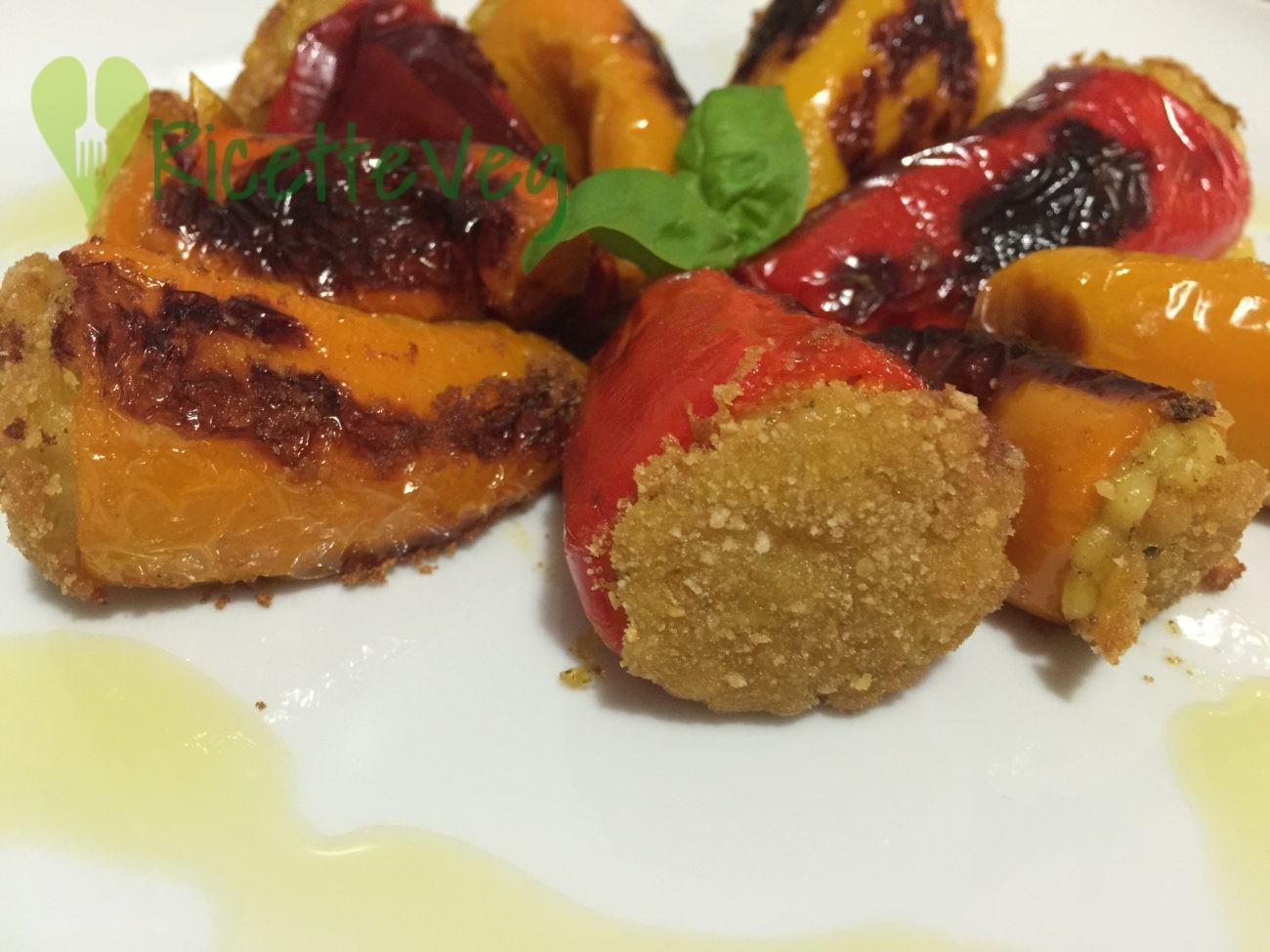 Peperoni ripieni di fregula – Ricetta vegetariana