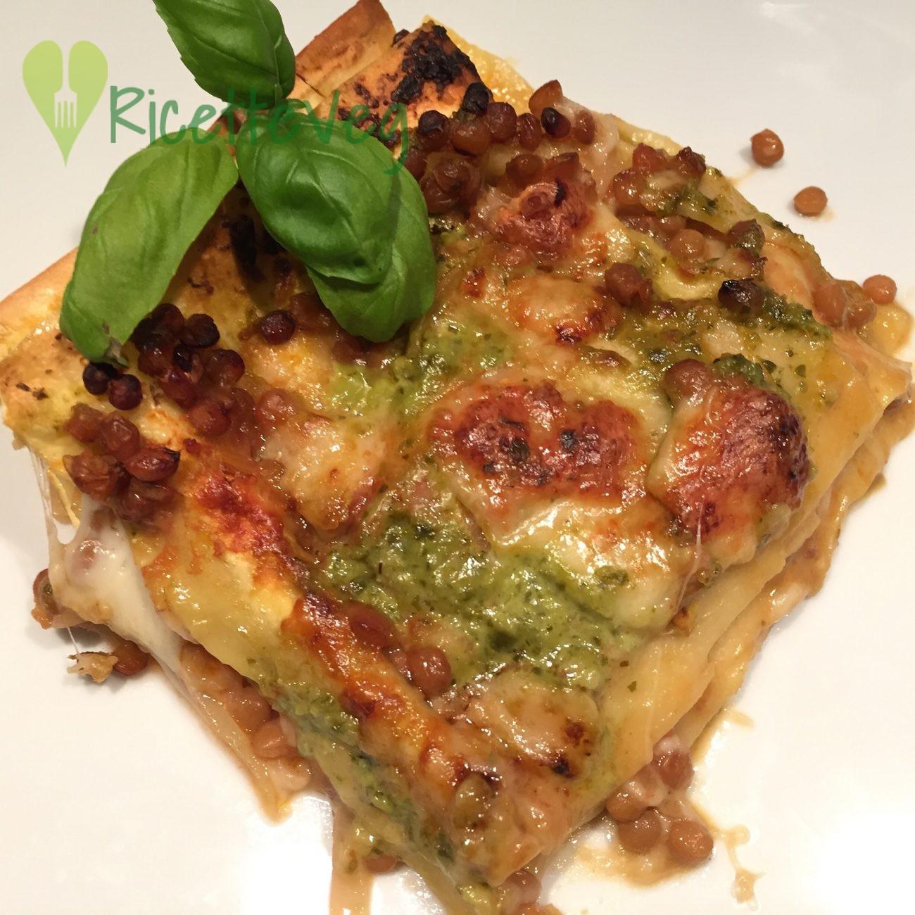 Lasagne vegetariane al ragù di lenticchie