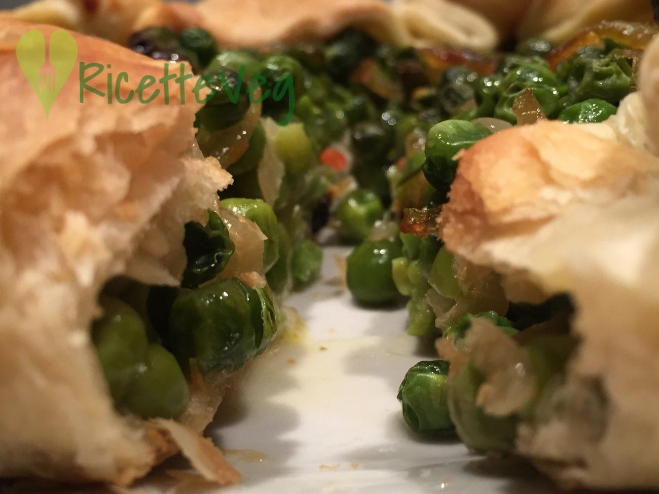 Torta salata piselli e stracchino – Ricetta Vegetariana