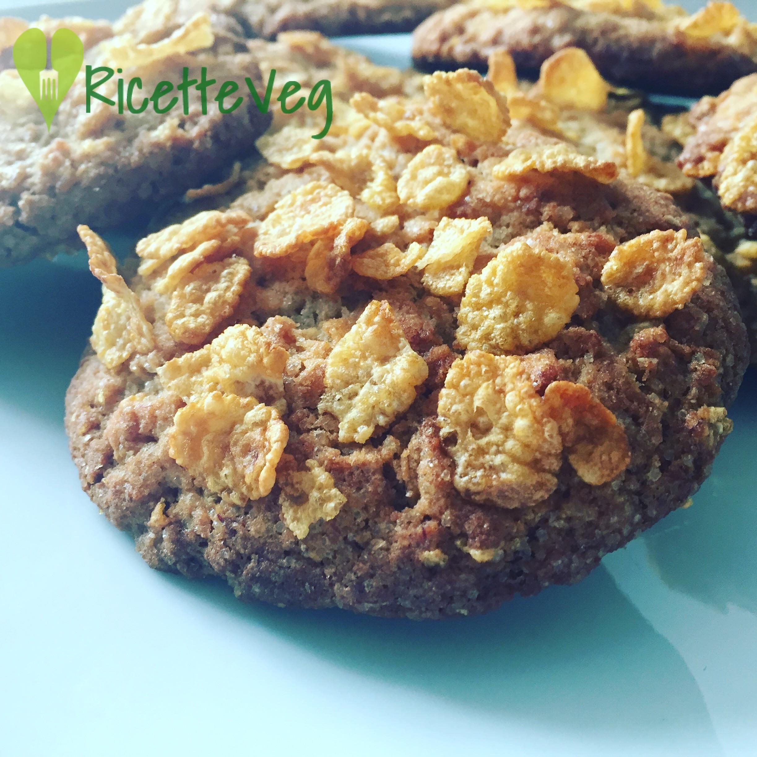 Biscotti ai Cornflakes - Ricetta Vegana
